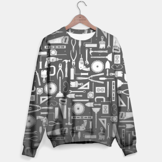 Thumbnail image of Black & Silver Workshop Tools Sweater, Live Heroes