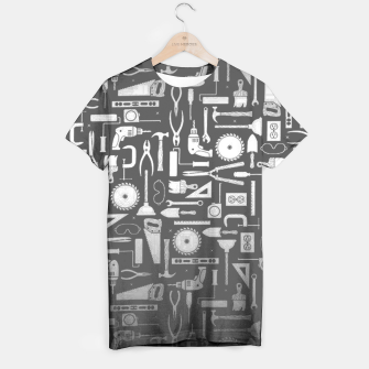 Thumbnail image of Black & Silver Workshop Tools T-Shirt, Live Heroes