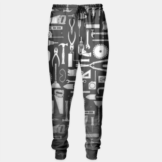 Thumbnail image of Black & Silver Workshop Tools Sweatpants, Live Heroes