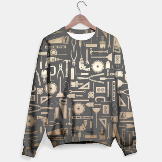 Thumbnail image of Black & Gold Workshop Tools Sweater, Live Heroes