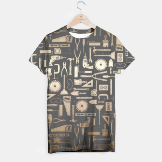 Thumbnail image of Black & Gold Workshop Tools T-Shirt, Live Heroes