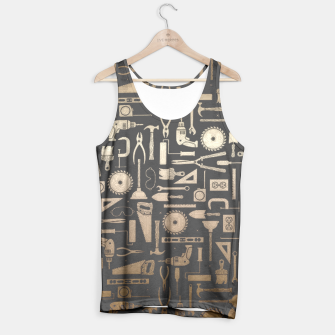 Thumbnail image of Black & Gold Workshop Tools Tank Top, Live Heroes