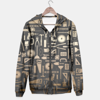 Thumbnail image of Black & Silver Workshop Tools Hoodie, Live Heroes