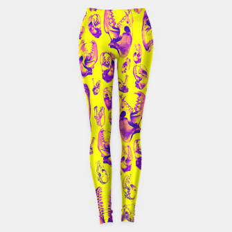 Carnivore HOT PINK & YELLOW Leggings Bild der Miniatur