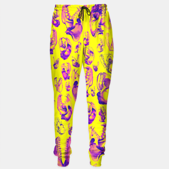 Carnivore HOT PINK & YELLOW Sweatpants Bild der Miniatur