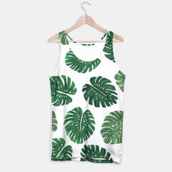 Miniatur Swiss Cheese Green Watercolor Foliage Pattern  Tank Top, Live Heroes
