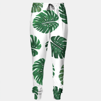 Miniatur Swiss Cheese Green Watercolor Foliage Pattern  Sweatpants, Live Heroes