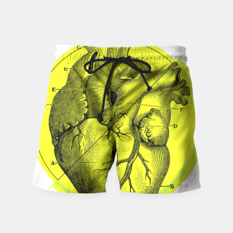 Thumbnail image of Anatomy Collection | Heart - Green Swim Shorts, Live Heroes