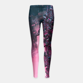 Thumbnail image of The Technocore Girl's Leggings, Live Heroes