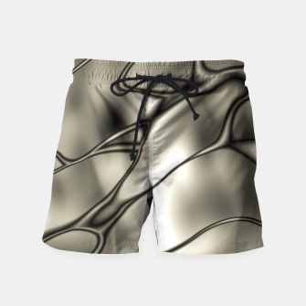 Thumbnail image of Silver Squiggly Swim Shorts, Live Heroes