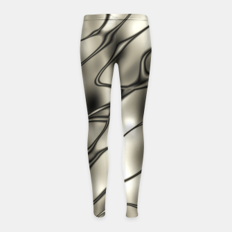 Miniatur Silver Squiggly Girl's Leggings, Live Heroes