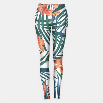 Thumbnail image of Tropical Lilies Leggings, Live Heroes