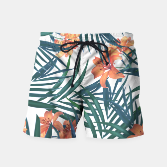 Thumbnail image of Tropical Lilies Swim Shorts, Live Heroes