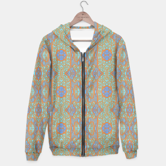 Thumbnail image of Orange and blue abstract pattern in eastern style  Hoodie, Live Heroes