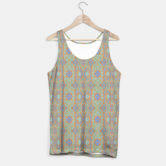 Thumbnail image of Orange and blue abstract pattern in eastern style  Tank Top, Live Heroes