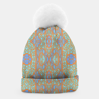 Thumbnail image of Orange and blue abstract pattern in eastern style  Beanie, Live Heroes