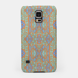 Thumbnail image of Orange and blue abstract pattern in eastern style  Samsung Case, Live Heroes