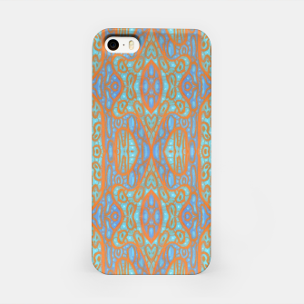 Thumbnail image of Orange and blue abstract pattern in eastern style  iPhone Case, Live Heroes