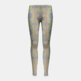 Thumbnail image of Orange and blue abstract pattern in eastern style  Girl's Leggings, Live Heroes