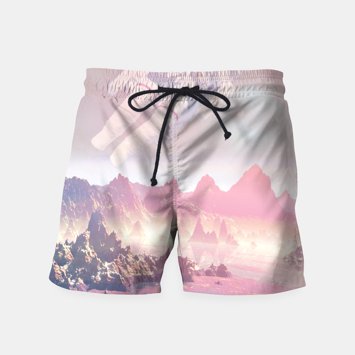 Image of Cosmic Landing Swim Shorts - Live Heroes