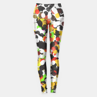 Thumbnail image of Messy Abstract Dots  Leggings, Live Heroes