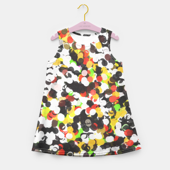 Thumbnail image of Messy Abstract Dots  Girl's Summer Dress, Live Heroes