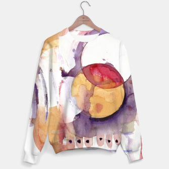 Thumbnail image of watercolour circles Sweater, Live Heroes