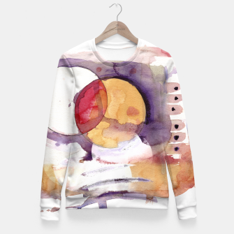 Thumbnail image of watercolour circles Fitted Waist Sweater, Live Heroes