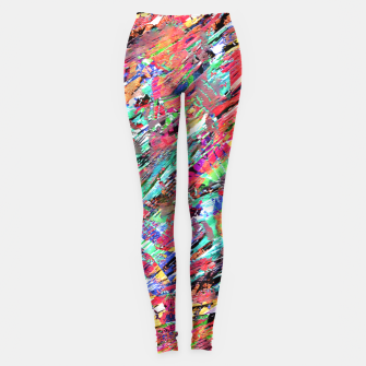 Thumbnail image of Expressive Abstract Grunge Leggings, Live Heroes