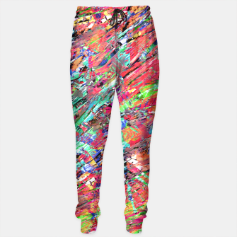 Thumbnail image of Expressive Abstract Grunge Sweatpants, Live Heroes