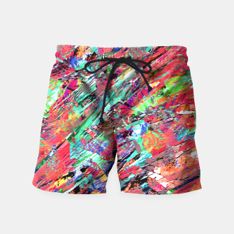 Thumbnail image of Expressive Abstract Grunge Swim Shorts, Live Heroes