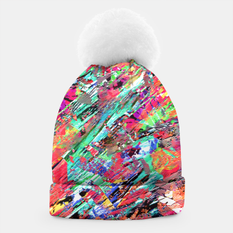 Thumbnail image of Expressive Abstract Grunge Beanie, Live Heroes