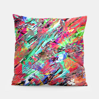Thumbnail image of Expressive Abstract Grunge Pillow, Live Heroes