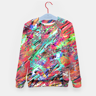 Thumbnail image of Expressive Abstract Grunge Kid's Sweater, Live Heroes