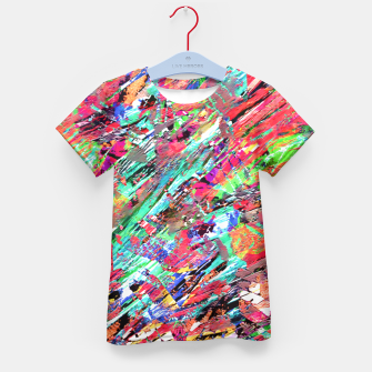 Thumbnail image of Expressive Abstract Grunge Kid's T-shirt, Live Heroes