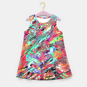 Thumbnail image of Expressive Abstract Grunge Girl's Summer Dress, Live Heroes