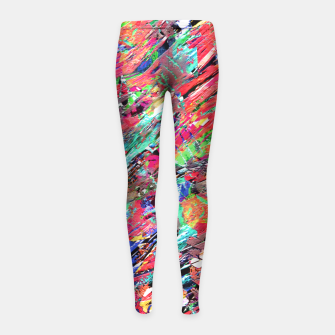 Thumbnail image of Expressive Abstract Grunge Girl's Leggings, Live Heroes