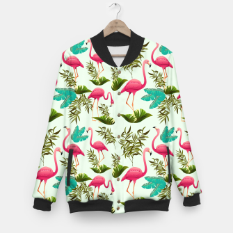 Thumbnail image of Pink Flamingos Exotic Birds Baseball Jacket, Live Heroes