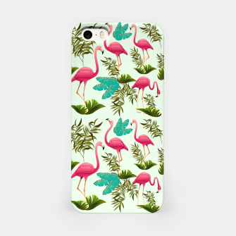Thumbnail image of Pink Flamingos Exotic Birds iPhone Case, Live Heroes