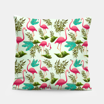 Thumbnail image of Pink Flamingos Exotic Birds Pillow, Live Heroes