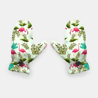Thumbnail image of Pink Flamingos Exotic Birds Gloves, Live Heroes
