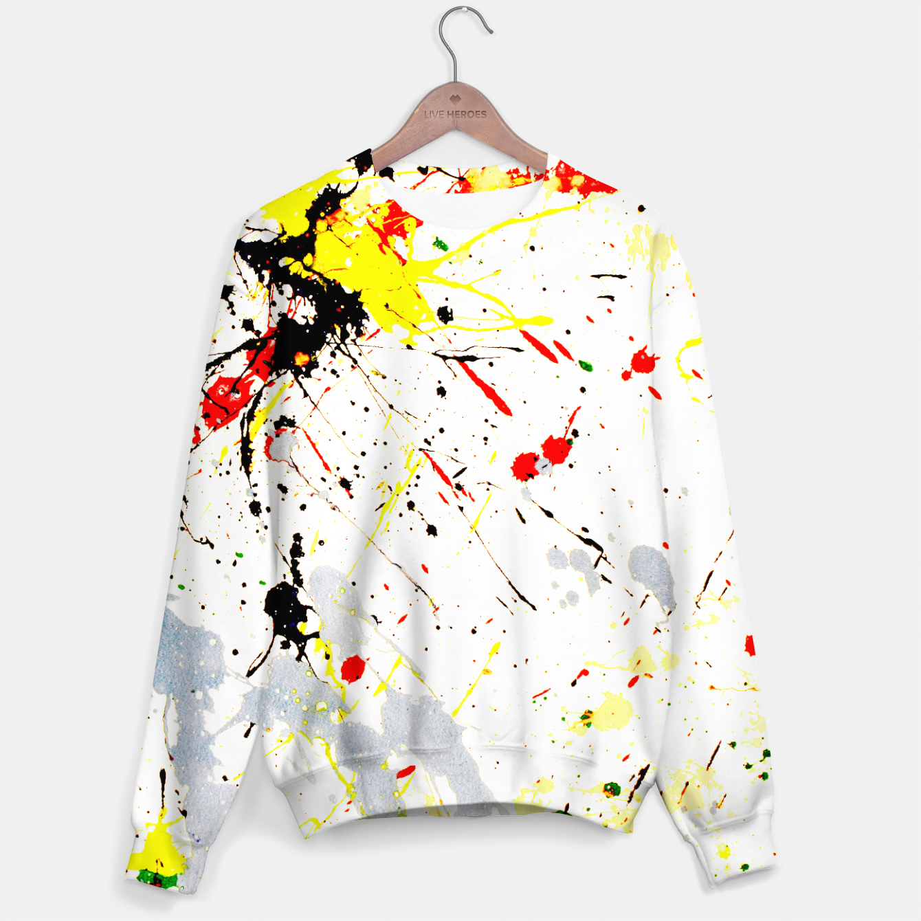 Image of Paint Splatter Sweater - Live Heroes