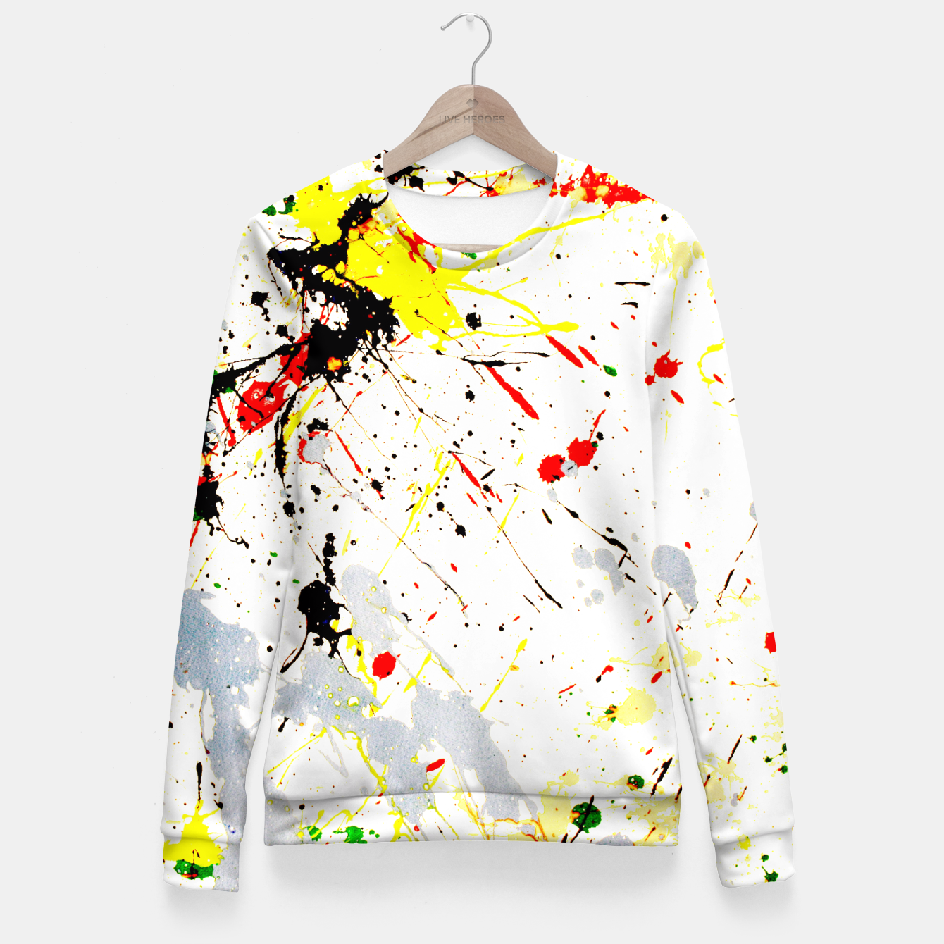 Image of Paint Splatter Fitted Waist Sweater - Live Heroes
