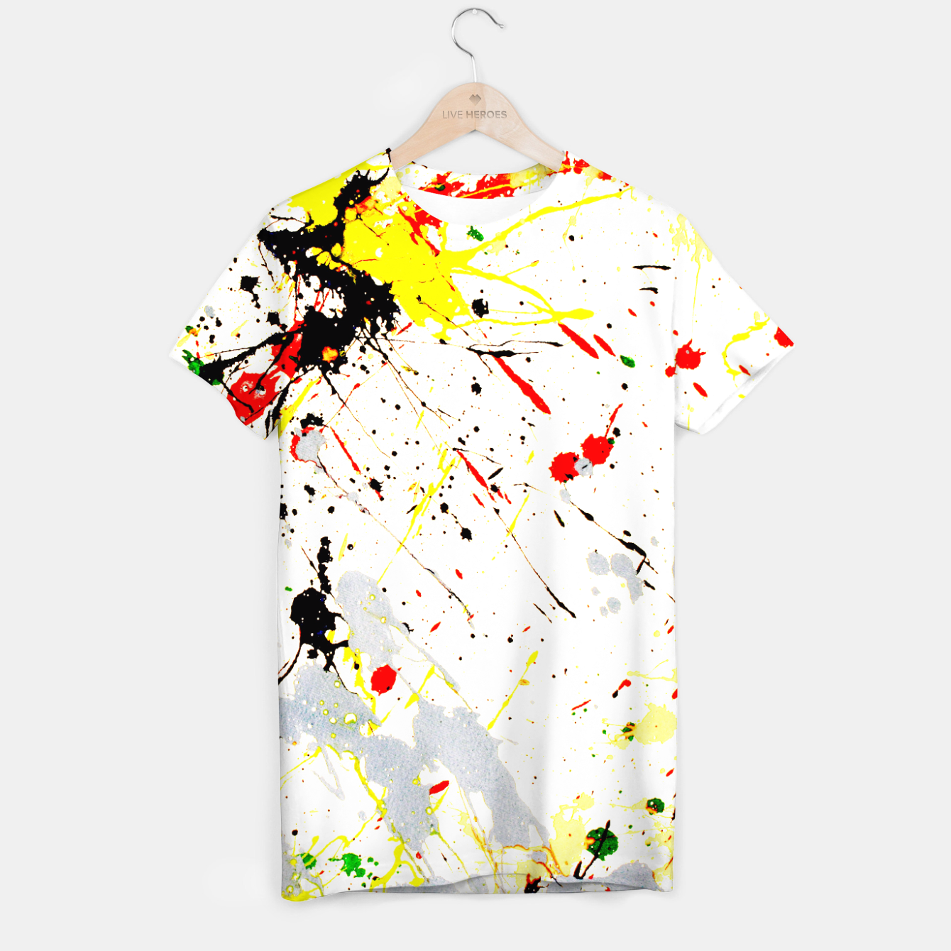 Image of Paint Splatter T-shirt - Live Heroes
