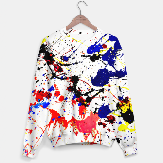 Blue Red Black Paint Splatter Sweater thumbnail image