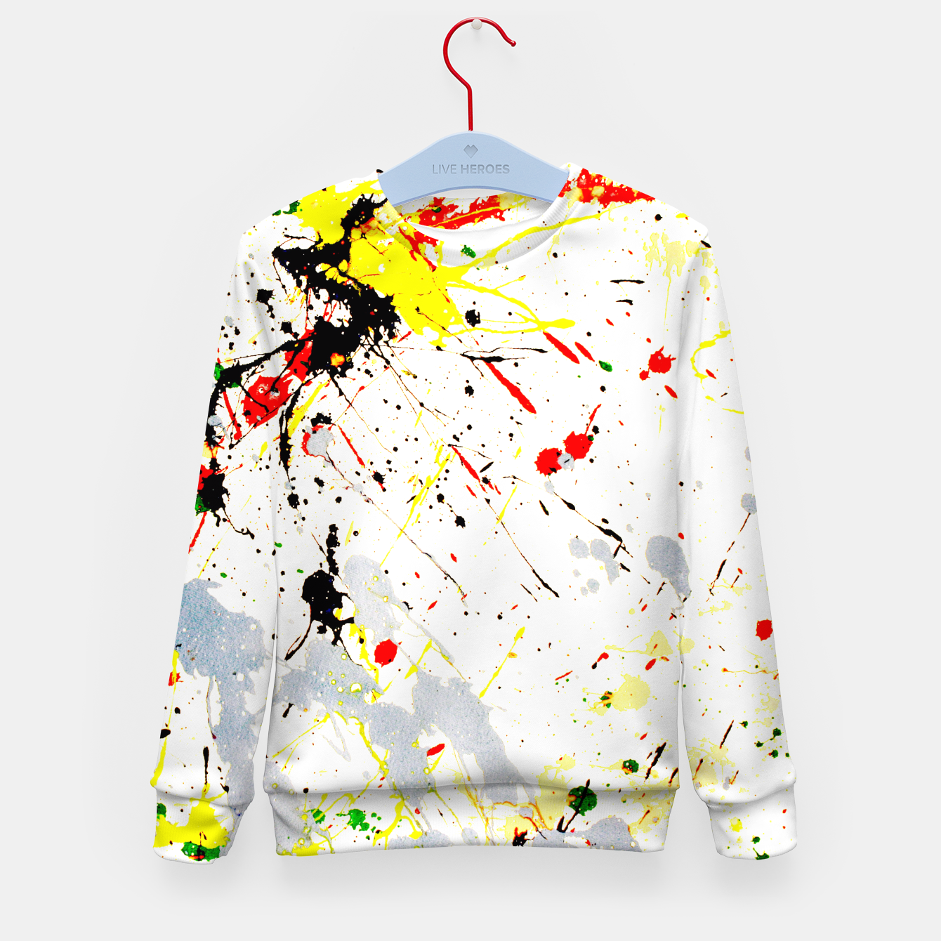 Image of Paint Splatter Kid's Sweater - Live Heroes