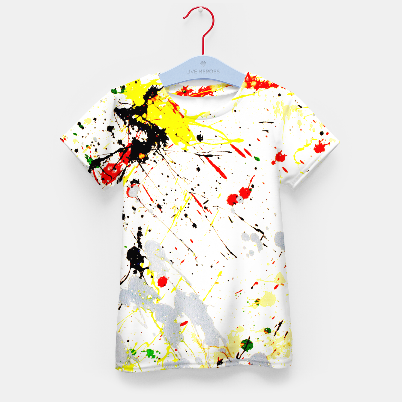 Image of Paint Splatter Kid's T-shirt - Live Heroes