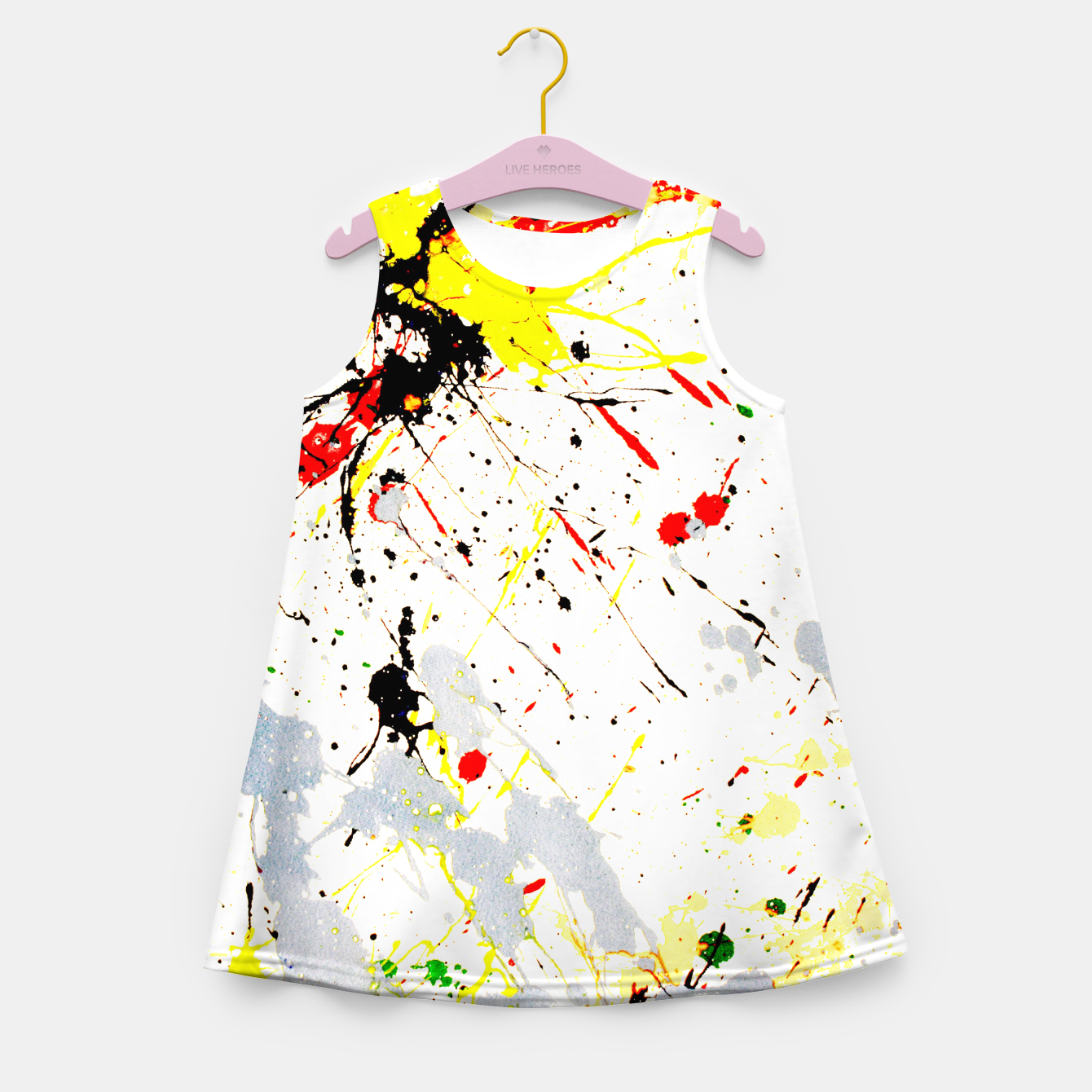 Image of Paint Splatter Girl's Summer Dress - Live Heroes
