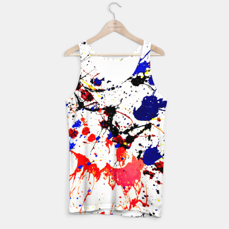 Blue Red Black Paint Splatter Tank Top thumbnail image