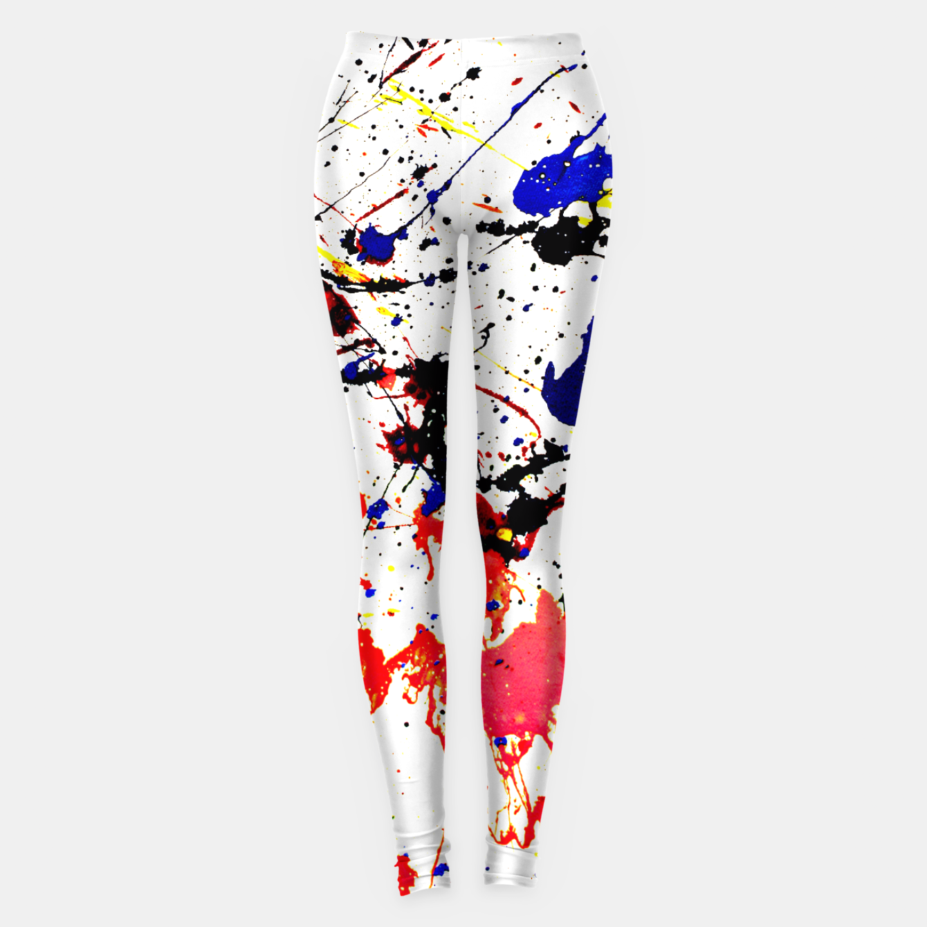 Image of Blue Red Black Paint Splatter Leggings - Live Heroes